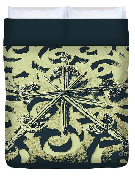 Live By The Sword Duvet Cover