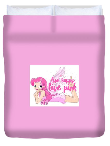 Live Happy Test Duvet Cover