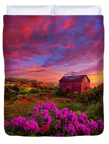 Live In The Moment Duvet Cover by Phil Koch