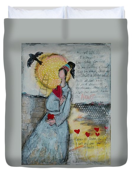 Live Joyfully  Duvet Cover