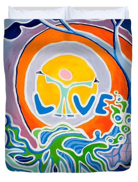 Live Love Duvet Cover