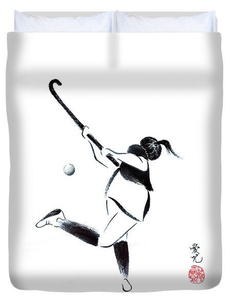 Live, Love, Play Field Hockey Duvet Cover