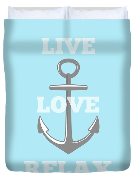 Live Love Relax - Customizable Color Duvet Cover