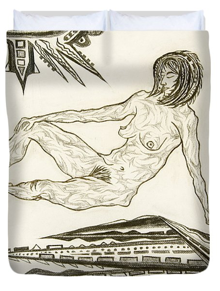 Live Nude 4 Female Duvet Cover