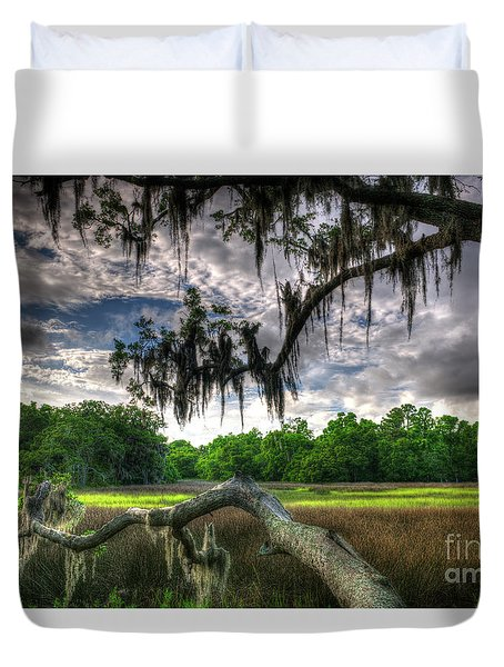 Live Oak Marsh View Duvet Cover