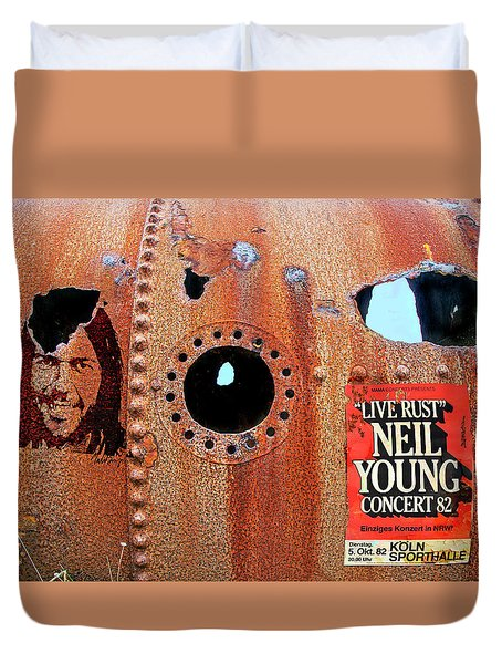 Live Rust, Neil Young Duvet Cover