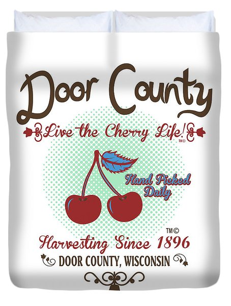 Live The Cherry Life Duvet Cover
