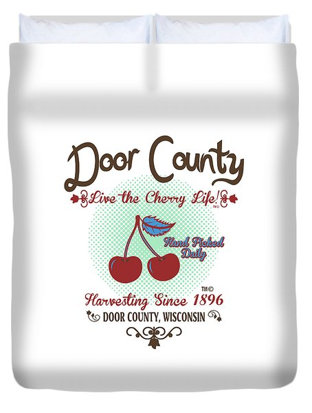 Live The Cherry Life Duvet Cover
