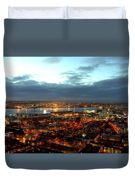 Liverpool City And River Mersey Duvet Cover