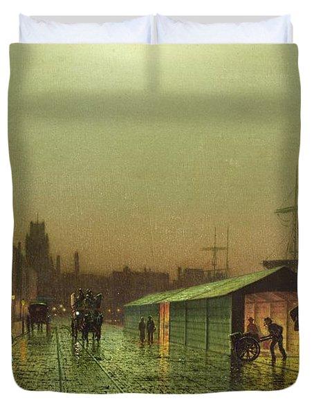 Liverpool Docks Duvet Cover