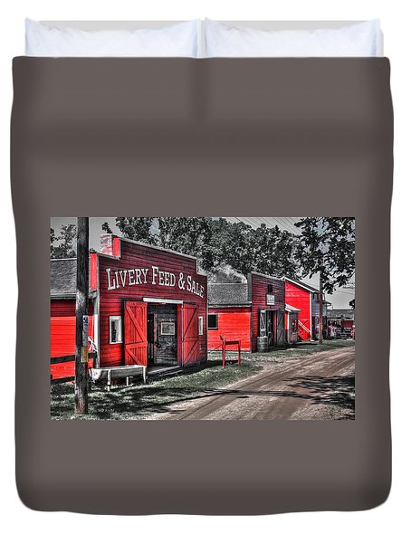 Livery Feed Duvet Cover