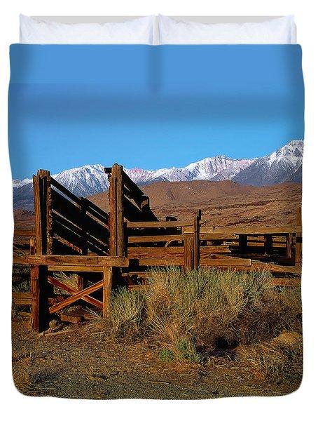 Livestock Chute Duvet Cover