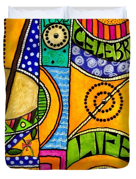 Living A Vibrant Life Duvet Cover