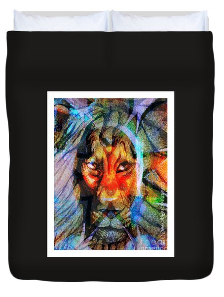 Living Among Lions Duvet Cover by Fania Simon