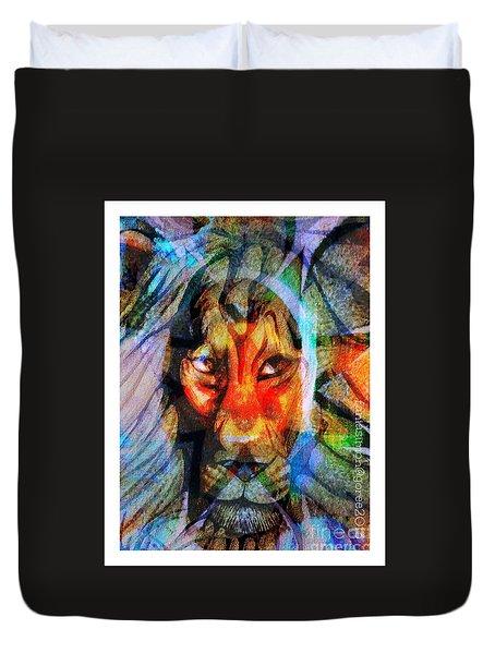 Living Among Lions Duvet Cover