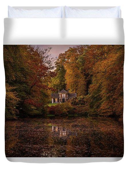 Living Between Autumn Colors Duvet Cover