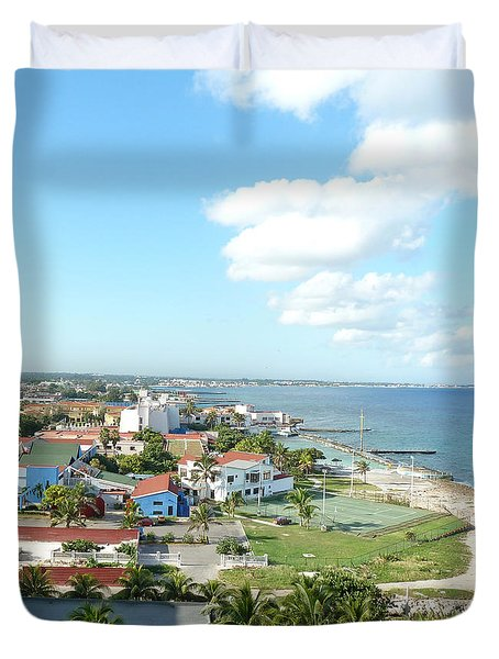 Living By The Coast Duvet Cover