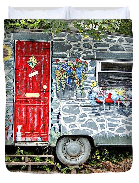 Living In Art Duvet Cover by Meirion Matthias