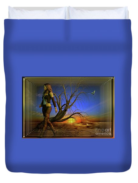 Living On The Edge Duvet Cover by Shadowlea Is