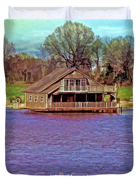 Living On The Water Duvet Cover