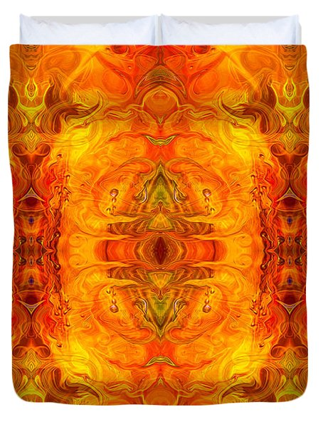 Living Passion Abstract Bliss  By Omashte Duvet Cover