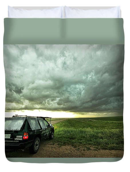Living Saskatchewan Sky Duvet Cover by Ryan Crouse