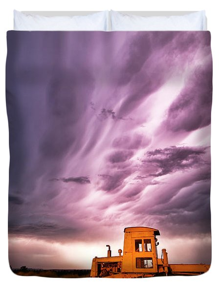 Living Sky In Nebraska Duvet Cover