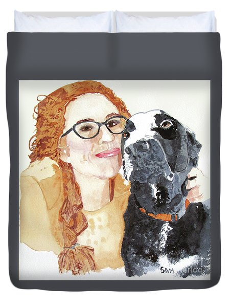 Livvy And Amos Duvet Cover