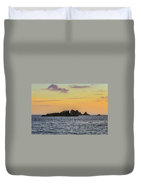 Lizard Point At Sunset  Duvet Cover
