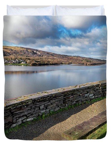 Llanberis Viewpoint Snowdonia Duvet Cover