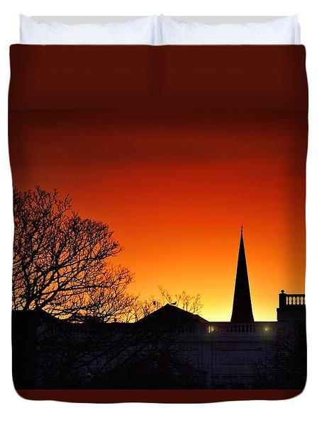 Llanelli Rooftops Duvet Cover