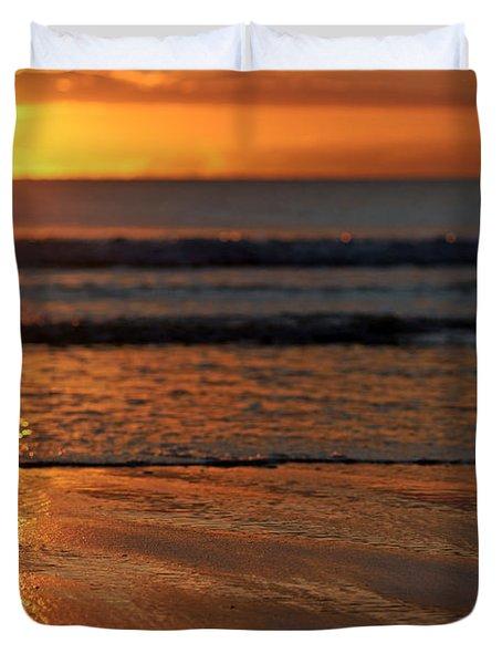 Llangennith Beach Sand Textures Duvet Cover