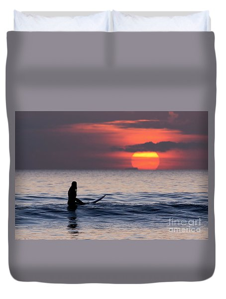 Llangennith One More Wave Duvet Cover