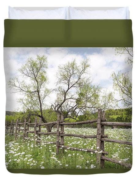 Llano County Wildflowers Duvet Cover