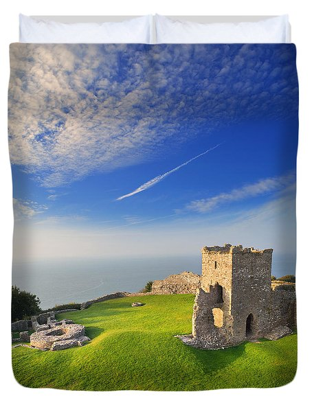 Llansteffan Castle 2 Duvet Cover