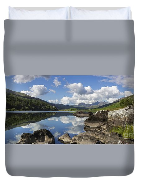 Llyn Mymbyr And Snowdon Panorama Duvet Cover