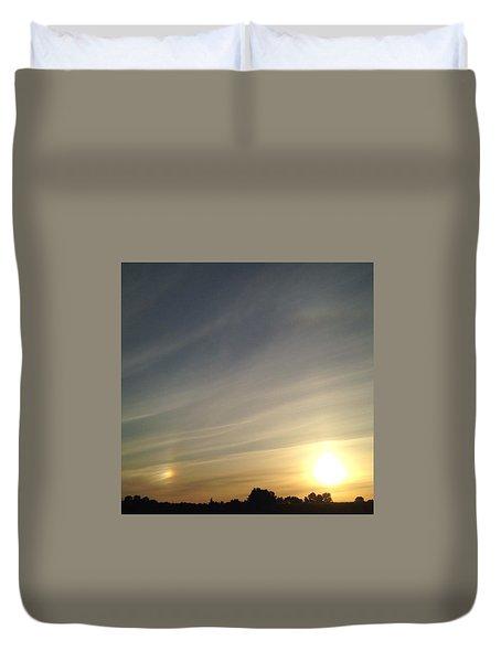 Lobbing Rainbows Into The Sun Duvet Cover