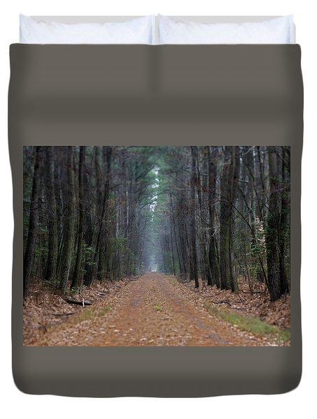 Duvet Cover featuring the photograph Loblolly Lane by Robert Geary