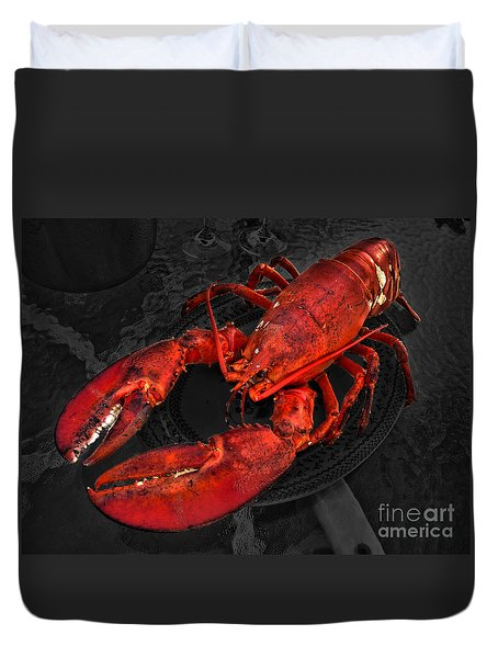 Lobstah Duvet Cover