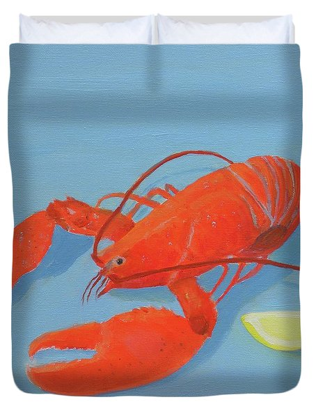 Lobster And Lemon Duvet Cover