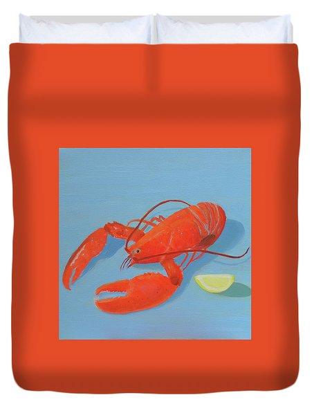 Lobster And Lemon Duvet Cover