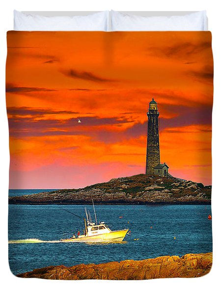 Lobster Boat Cape Cod Duvet Cover
