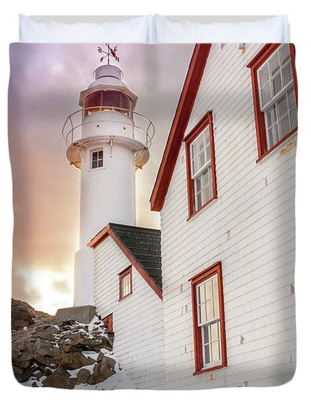Lobster Cove Head Lighthouse #3 Duvet Cover