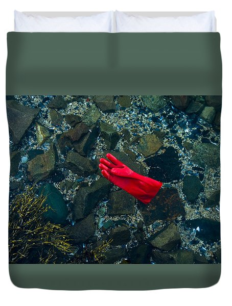 Lobster Glove Duvet Cover