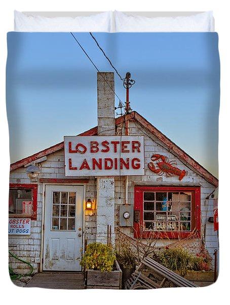 Lobster Landing Sunset Duvet Cover