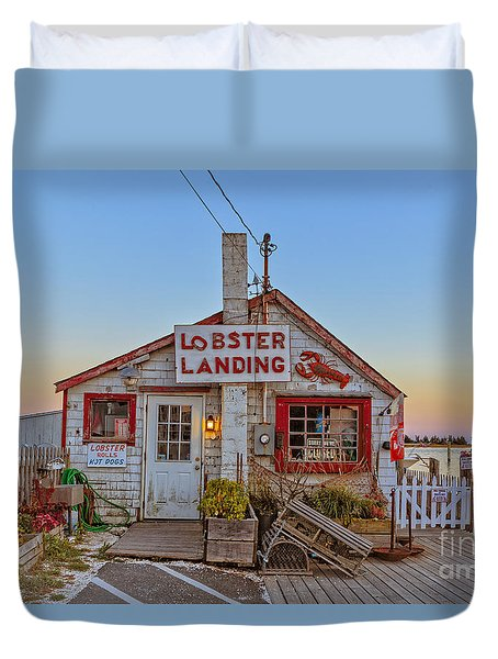Lobster Landing Sunset Duvet Cover