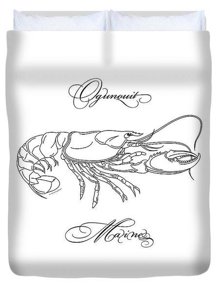 Ogunquit Maine Duvet Cover