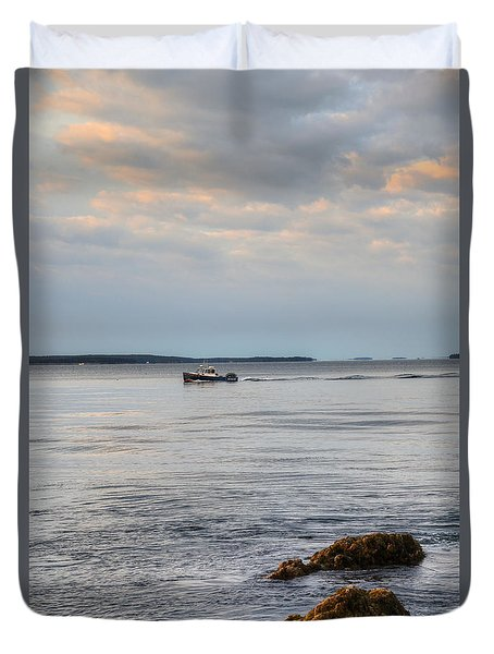 Lobsterboat Freedom II - Bass Harbor, Maine Duvet Cover