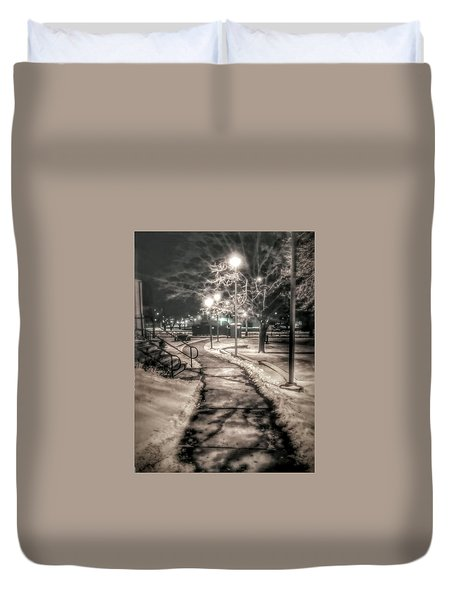 Local Library Duvet Cover by Dustin Soph