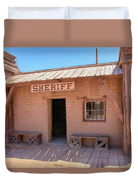 Local Sheriff Tucson Duvet Cover